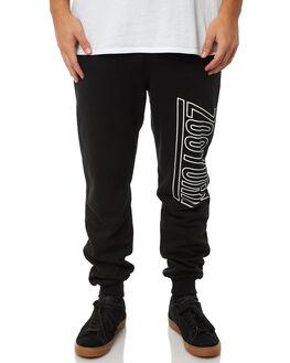 BLACK MENS CLOTHING ZOO YORK PANTS - ZY-MPA8183BLK