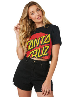 BLACK WOMENS CLOTHING SANTA CRUZ TEES - SC-WTD8738BLK