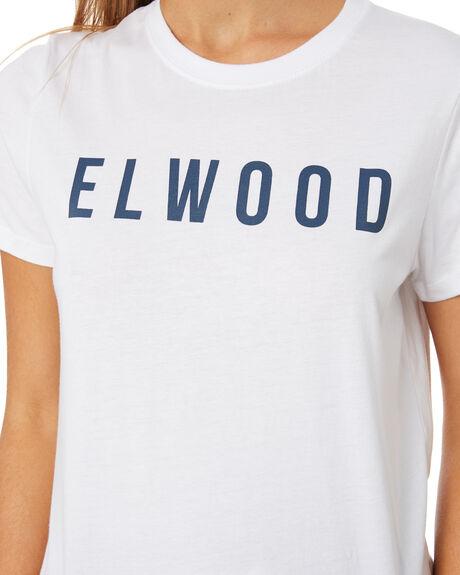 WHITE WOMENS CLOTHING ELWOOD TEES - W01100WHT