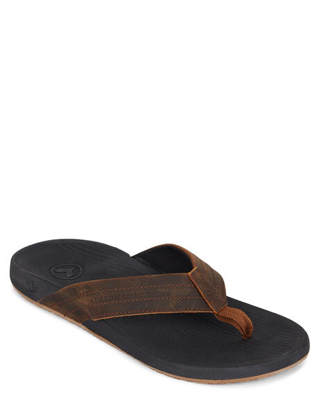 BLACK/BROWN MENS FOOTWEAR KUSTOM THONGS - KS-4983207-BBW