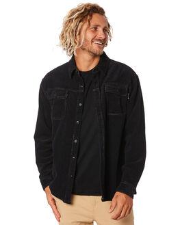 BLACK MENS CLOTHING RUSTY SHIRTS - WSM0807BLK