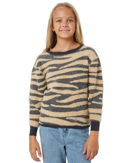 GREY AND PEBBLE KIDS GIRLS EVES SISTER JUMPERS + JACKETS - 9550032GRY