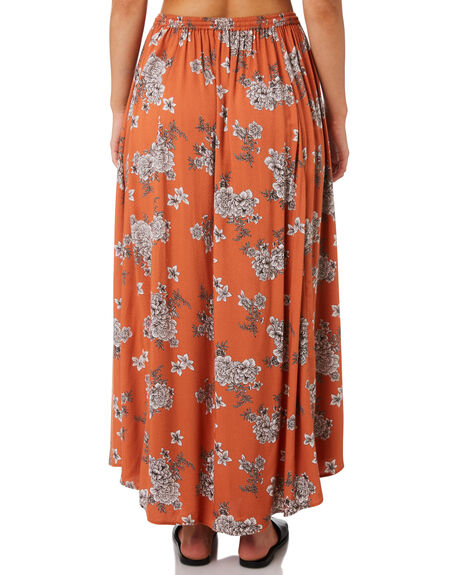 RUST FLORAL OUTLET WOMENS O'NEILL SKIRTS - 5421616RSF