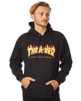 BLACK MENS CLOTHING THRASHER JUMPERS - 312007BLK