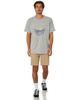 DARK GREY HEATHER MENS CLOTHING HURLEY TEES - AR5446063