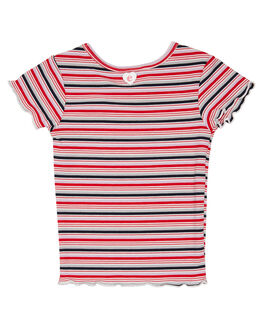 RED LILAC STRIPE KIDS GIRLS EVES SISTER TOPS - 8054001STR2