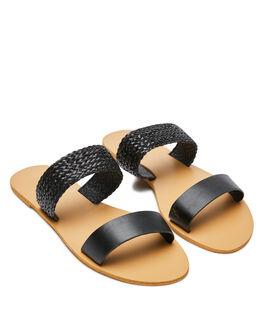 BLACK WOVEN WOMENS FOOTWEAR BILLINI SLIDES - S579BLK