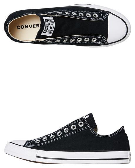 BLACK WOMENS FOOTWEAR CONVERSE SNEAKERS - SS164300CBLKW