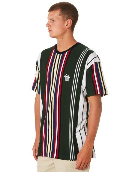 BLACK MENS CLOTHING STUSSY TEES - ST091108BLK