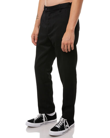 BLACK MENS CLOTHING ROLLAS PANTS - 20047C100