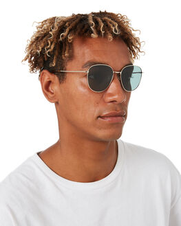 POLISHED GOLD MENS ACCESSORIES LOCAL SUPPLY SUNGLASSES - BAYGDP2PGLD
