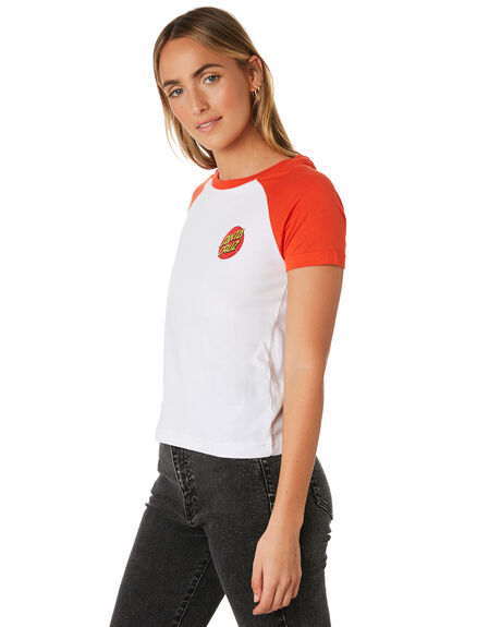 WHITE WOMENS CLOTHING SANTA CRUZ TEES - SC-WTA9833WHITE