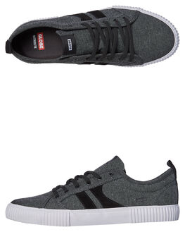 BLACK CHAMBRAY MENS FOOTWEAR GLOBE SKATE SHOES - GBFILMORE-20025