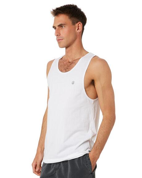 WHITE MENS CLOTHING VOLCOM SINGLETS - A4542070WHT
