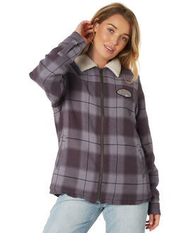 MEDIUM GREY WOMENS CLOTHING RIP CURL JACKETS - GJKDK14540