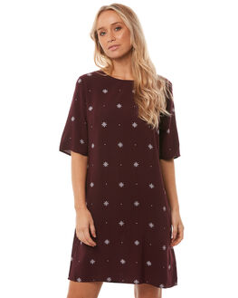 BURGANDY STARDUST WOMENS CLOTHING ALL ABOUT EVE DRESSES - 6415015BUR