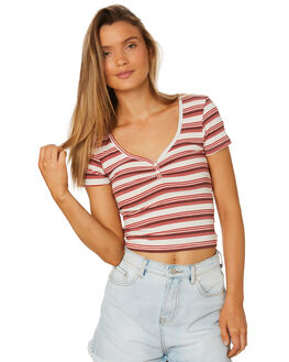 RUSTY WHITE WOMENS CLOTHING ALL ABOUT EVE TEES - 6426059STR