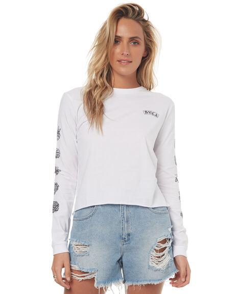 WHITE WOMENS CLOTHING RVCA TEES - R272092WHT
