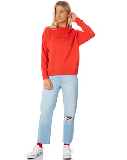 POPPY RED WOMENS CLOTHING BILLABONG JUMPERS - 6585763PPR