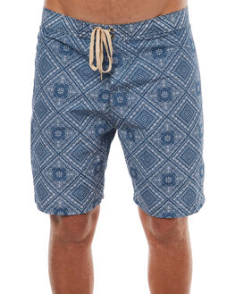INDIGO BANDANA MENS CLOTHING MOLLUSK BOARDSHORTS - MS1442IND