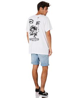 WHITE MENS CLOTHING DEAD KOOKS TEES - DKSTEE39WHT