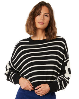 BLACK WOMENS CLOTHING AFENDS KNITS + CARDIGANS - W191561BLK