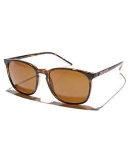 HAVANA DARK BROWN MENS ACCESSORIES RAY-BAN SUNGLASSES - 0RB4387HBRN