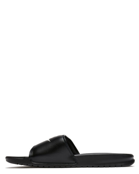 BLACK WHITE WOMENS FOOTWEAR NIKE SLIDES - SS343880-090W