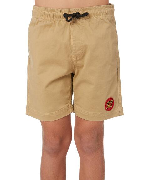 TAN KIDS BOYS SANTA CRUZ SHORTS - SC-YWC9304TAN