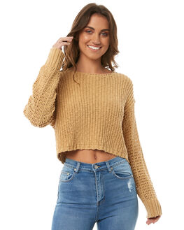 CURRY WOMENS CLOTHING BILLABONG KNITS + CARDIGANS - 6585794CURR