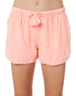 NEON CORAL KIDS GIRLS EVES SISTER SHORTS + SKIRTS - 9920045PEAC