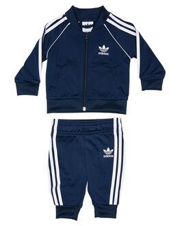 NAVY WHITE KIDS BABY ADIDAS CLOTHING - ED7669NVYWH