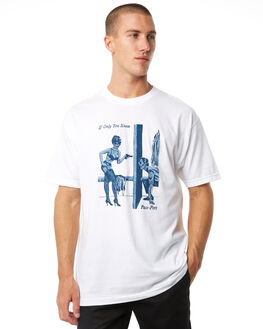 WHITE MENS CLOTHING PASS PORT TEES - R23ONLYKNEWWHT