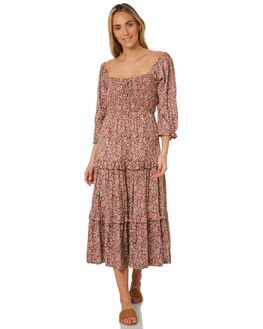 TIGANI FLORAL OUTLET WOMENS THE HIDDEN WAY DRESSES - H8203443TIGFL