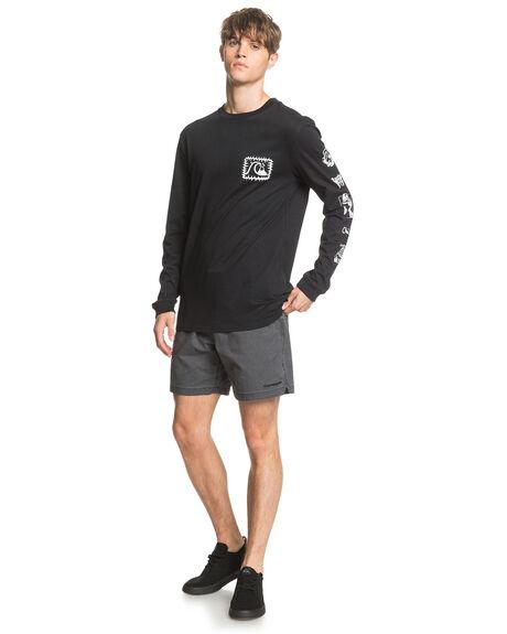 BLACK MENS CLOTHING QUIKSILVER TEES - EQYZT05834-KVJ0