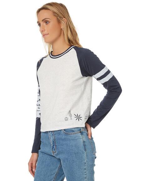 NAVY WOMENS CLOTHING VOLCOM TEES - B0131775NVY