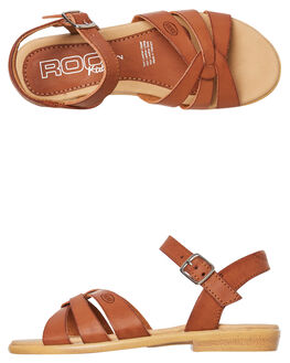 TAN KIDS GIRLS ROC BOOTS AUSTRALIA THONGS - DTH1117-05TAN