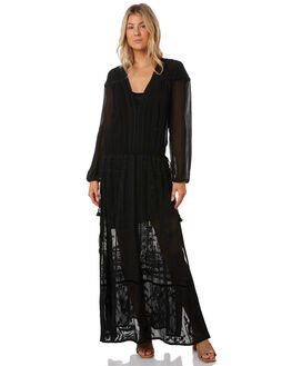 BLACK WOMENS CLOTHING TIGERLILY DRESSES - T391406BLK
