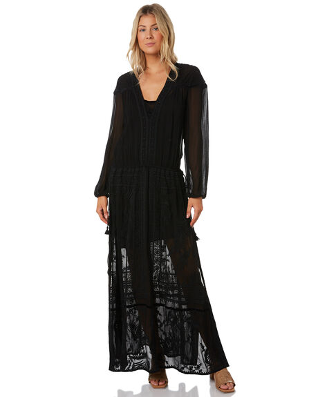 BLACK OUTLET WOMENS TIGERLILY DRESSES - T391406BLK