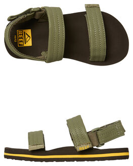 BROWN OLIVE KIDS BOYS REEF THONGS - A3VD6BOV