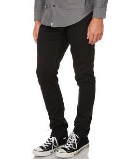 BLACK MENS CLOTHING OURCASTE PANTS - P1000BLK
