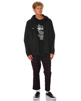 BLACK MENS CLOTHING STUSSY JACKETS - ST006501BLK
