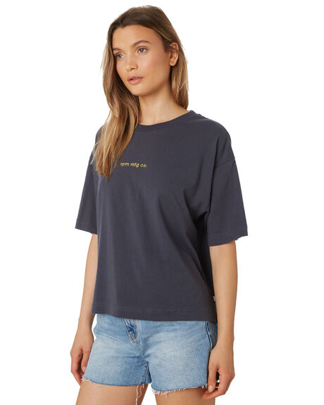 STEEL WOMENS CLOTHING RPM TEES - 9AWT03BSTE