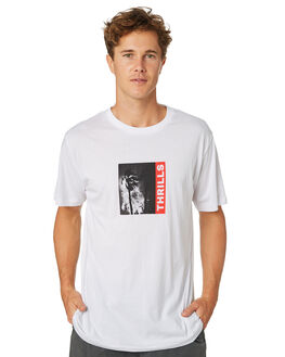 WHITE MENS CLOTHING THRILLS TEES - TR8-101AWHT