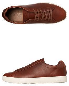 CHESTNUT LEATHER MENS FOOTWEAR CLAE SNEAKERS - CLA01297CDL