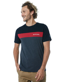 BLACK RED MENS CLOTHING RIP CURL TEES - CTESG24019