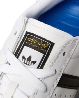 WHITE BLACK MENS FOOTWEAR ADIDAS SKATE SHOES - SSD68718WHIM