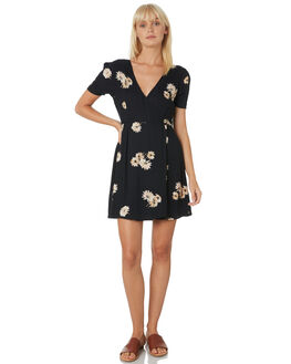 BLACK WOMENS CLOTHING VOLCOM DRESSES - B1331906BLK