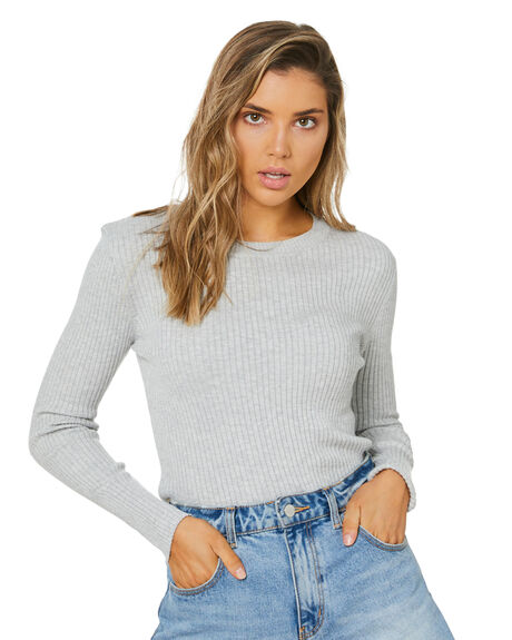GREY MARLE WOMENS CLOTHING NUDE LUCY KNITS + CARDIGANS - NU23852GMARL