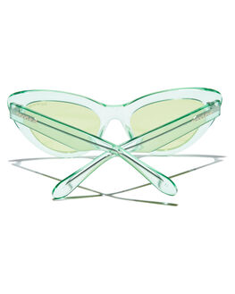 TRANSPARENT LIME WOMENS ACCESSORIES BOND EYE SUNGLASSES - BES001LIM